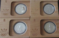 "Spain - 2000 Pesetas 1990 ""Barcelona Olympics 92"" (lot of 4 coins) - Silver,"