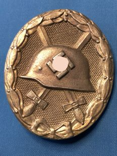 1933-1945 Third Reich Wounded Badge 2nd Model 1939 in silver