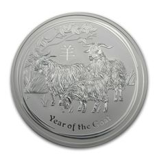 Australia - 10 dollars 2015 ' Year of the Goat' - 10 oz gold