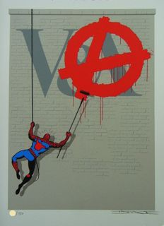 D*Face - A is for Anarchy + Book for V&A Museum: Street Art: Contemporary Prints