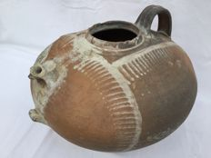 Wonderful 17th century jug with nice fish bone pattern __ Southern Europe, France