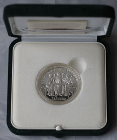 Vatican - 10 Euro 2005 'Year of the Eucharist' - silver