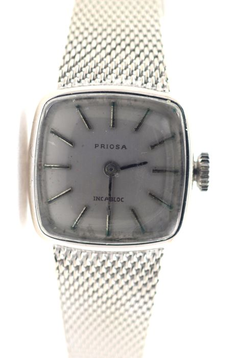 Priosa women's watch 585 / 14 kt white gold
