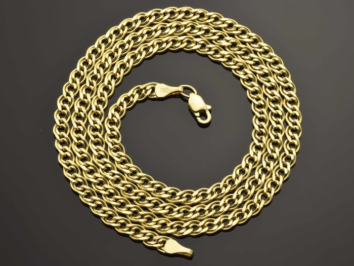 "18K Gold Necklace. Chain ""Nonna"" - 50 cm. Weight 5.36 g. No reserve price"