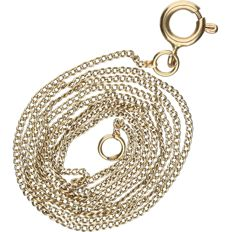 14 kt Yellow gold curb link necklace. - length x width: 42 x 0.1 cm