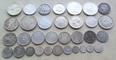 World - Batch of various coins 1908/1997 (33 different) - silver