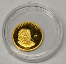 Europe - 100 Euro 2001 Albert Einstein - 585 gold 0,5g