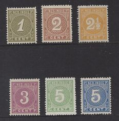 Dutch East Indies 1883 - Printed matter stamps - NVPH 17/22