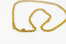 18 kt Yellow Gold Chain - Length: 55 cm
