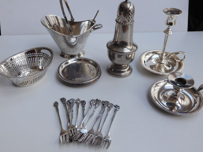 Collection silver-plate