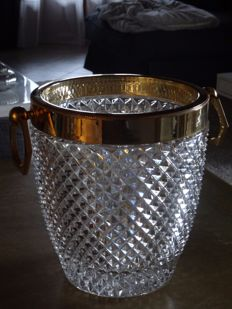 cut crystal champagne cooler