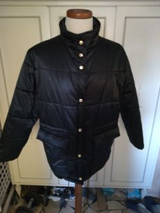 Burberry black quilted jacket. Size 48 IT. No Reserve