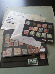 Germany 1890/1940 - old states and some areas, batch on cards and in bags.