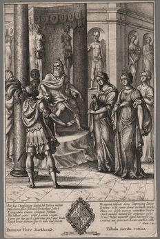 Wenzel Hollar (1607-1677) - Turnus before Latinus - 1654