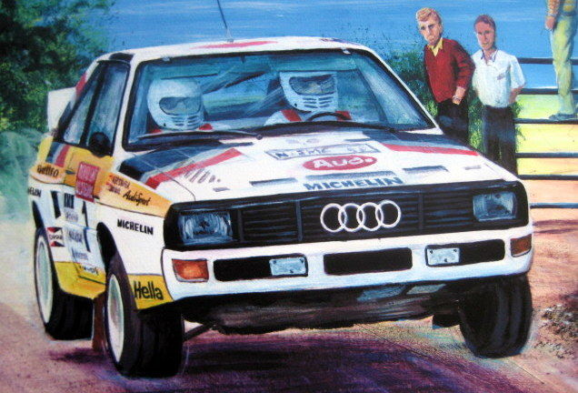 """A Drive Down The Linë"" - Walter Rohrl/Christian Geistdorfer Audi Quattro S1 #1 - 1984 Victory Ulster Rally"