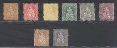 Switzerland 1867/81 - Helvetia seated -  Unificato catalogue N° 42/48 + 49/57