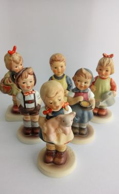 6 Hummel figurines from Goebel