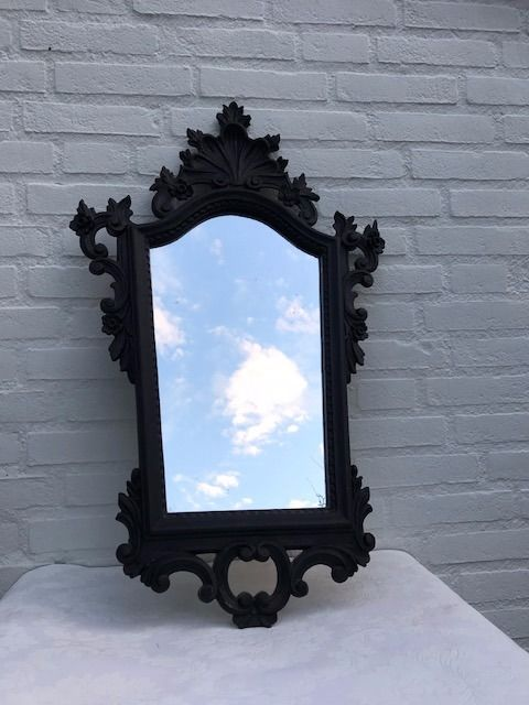 Blackened French mirror, 1st half of the 20th century, France