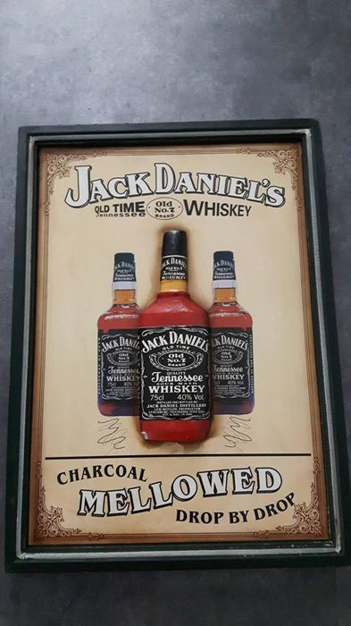 Wooden Jack Daniel's advertising pub sign