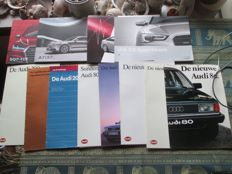 Car brochures (Audi, 12 mostly extensive brochures, 1977-2016)