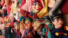 Large collection of 70 hand puppets