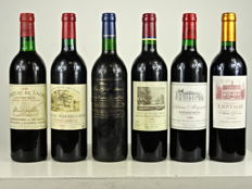 2003 Chateau Lestages 'Chênes Besson', Listrac-Medoc, Cru Bourgeois  x 1 bottle - 1999 Chateau Mazeyres, Pomerol x 1 bottle - 1998 Chateau Duhart-Milon, Pauillac Grand Cru Classé  x 1 bottle - 1994 Chateau Les Gravières Saint Emilion Grand Cru x 1 bottle - 1993 Chateau Magdelaine, Saint Emilion Grand Cru x 1 bottle - 1988 Chateau de Sales, Pomerol x 1 bottle - 6 bottles