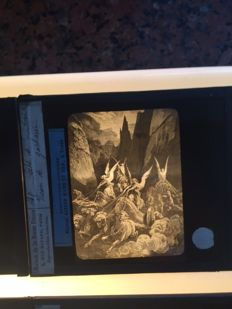 Glass slide, theme Faith: Bible - Christians - Angel 45 x