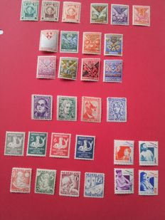 The Netherlands 1924/1931 - Child relief stamps, 8 series