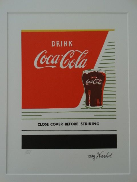 Coca Cola - Lithograph by Andy Warhol - Numbered with Plate signed