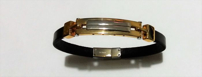 Bracelet made in Italy, 18 kt with 14 kt yellow gold, 25 g and silver, 10 g