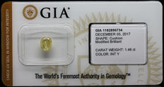 1.46 ct. GIA Certified Natural Fancy INTENSE Yellow, Even Diamond - NO RESERVE