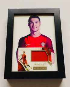 Panini - Cristiano Ronaldo - Card with Authentic Piece of a Jersey Used in an Portugal Official Game - Limited Edition 05/49.