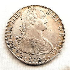 Spain - Charles IV - 8 reales in silver - 1791 - Mexico
