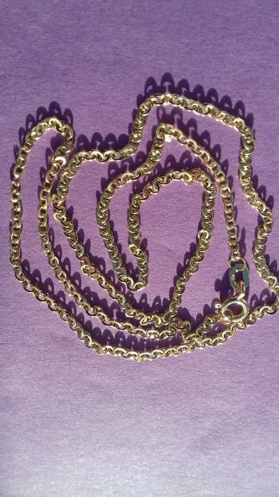 18 kt solid gold chain 50 cm