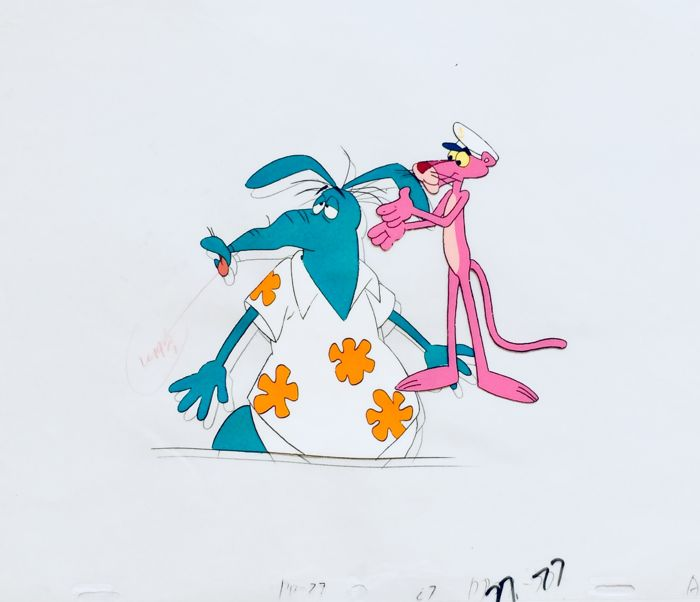 Friz Freleng - 2 Original Production Cels + 1 Drawing -  Pink Panther - Other