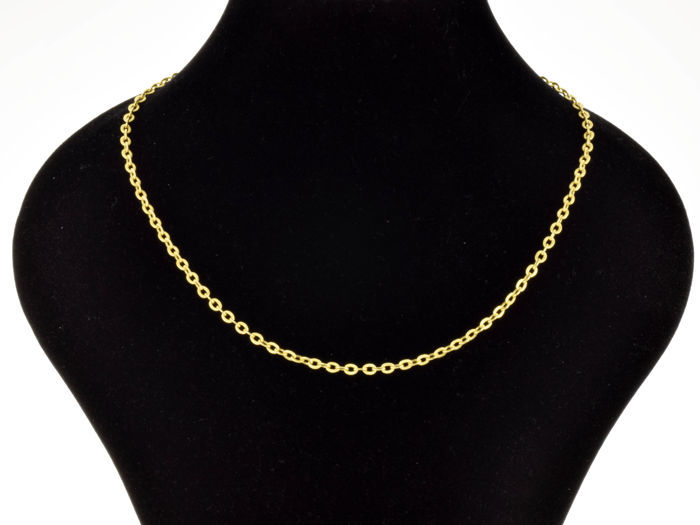 18k Gold Necklace. Chain - 44.5 cm. Weight 5.74 g.