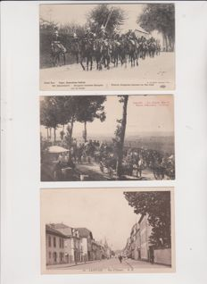 Exceptional lot of 50 old postcards from France, very, very animated
