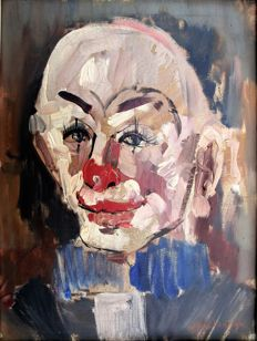 "Kelderman Jan ( 1914 - 1990) - ""De clown Pipo"""