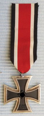 Iron Cross 2nd Class with ribbon, badge, German Wehrmacht, Third Reich, WW2, iron cross second class with ribbon. WW II