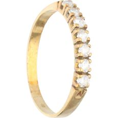 14 kt - Yellow gold ring set with zirconia - Ring size: 18.5 mm