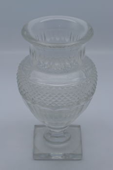 France - Baccarat cut Crystal - Vase after an Empire example, France, half of the 20th century