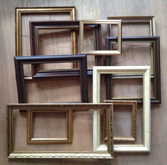 Ten (Plated) Picture Frames