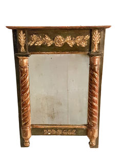 Small Empire console-mirror in gilt wood - late 18th / early 19h - France