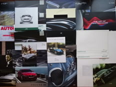 1983 - 2015 - JAGUAR XJ Series, XK Series, XK V8, XKR, S-Type, X-Type, XF, XE, F-Type, XJ-S, etc - Mixed lot of 30 original sales brochures