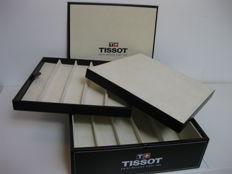 Tissot black leather watch case with large internal compartments for keeping your watches, in perfect condition
