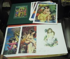 "Biffignandi, Alessandro - erotic portfolio in luxury edition ""Biancaneve"" 10x lithographs"