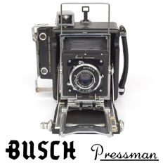 "Fabulous BUSCH PRESSMAN type C 2"" X 3"" plate camera, Rapax shutter and a Raptar 101 mm f 4.5 lens"