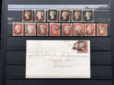 Great Britain/ Queen Victoria 1840/1841 - small collection of 14 stamps and 1 cover Stanley Gibbons 1,3, 8/12.