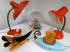 Unknown designer - Lot of 5 table lamps from the 1950s/60s