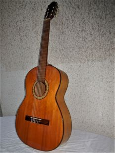 Old Hopf concert guitar model Carl Hellweg/Dortmund with carrying bag